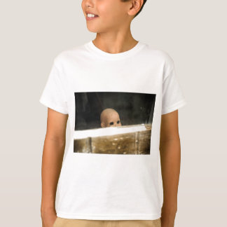 Vintage Dirty Dollhead Peering Out Of Window T-Shirt