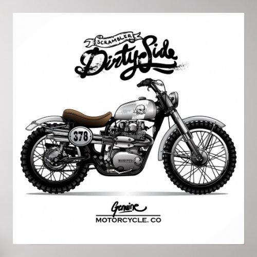 Vintage Dirtyside Chopper Motorcycle