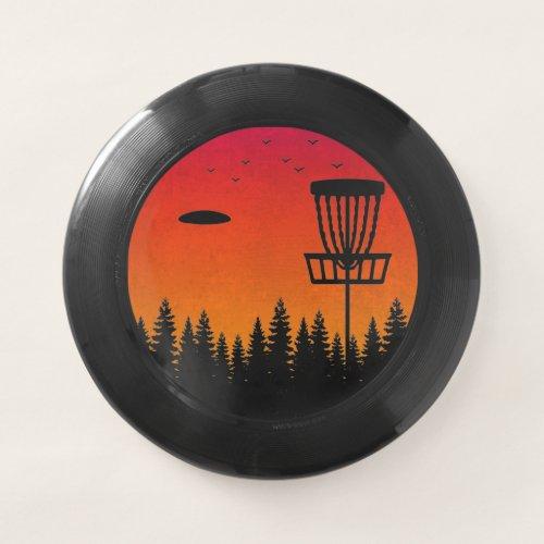 Vintage Disc Golf Frolf Frisbee Player Retro