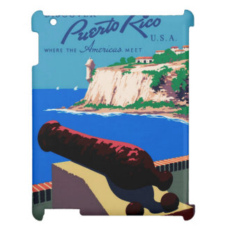 Vintage Discover Puerto Rico U.S.A. WPA Poster Case For The iPad