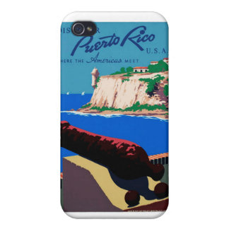 Vintage Discover Puerto Rico U.S.A. WPA Poster iPhone 4 Cover