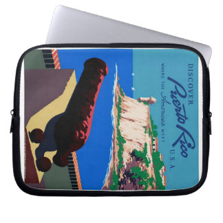 Vintage Discover Puerto Rico U.S.A. WPA Poster Laptop Sleeve