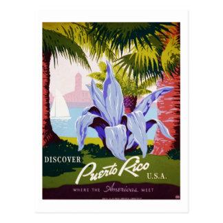 Vintage Discover Puerto Rico USA Travel Postcard