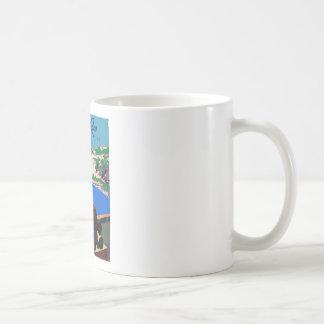 Vintage Discover Puerto Rico WPA Poster Coffee Mug