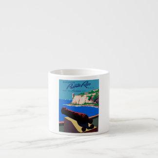 Vintage Discover Puerto Rico WPA Poster Espresso Cup