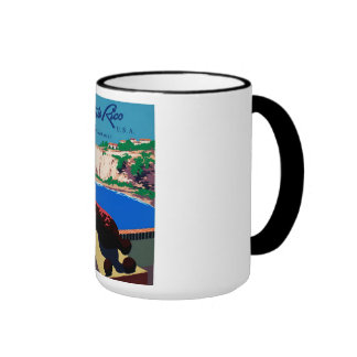 Vintage Discover Puerto Rico WPA Poster Ringer Mug