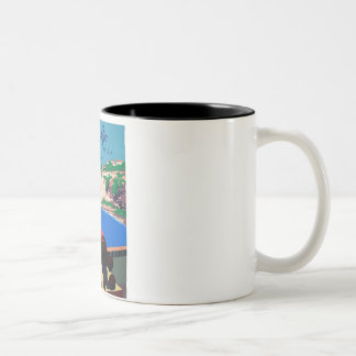Vintage Discover Puerto Rico WPA Poster Two-Tone Coffee Mug