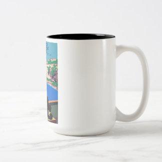 Vintage Discover Puerto Rico WPA Poster Two-Tone Coffee Mug