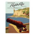 Vintage Discover Puerto Rico WPA Travel Postcard