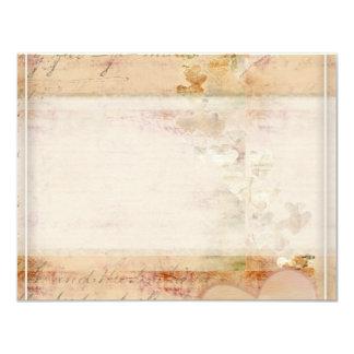 Vintage, diseño pasado de moda invitación 10,8 x 13,9 cm