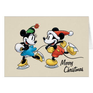 Vintage Disney | Mickey & Minnie Ice Skating Card