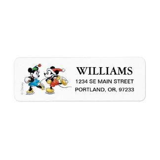 Vintage Disney | Mickey & Minnie Ice Skating Label
