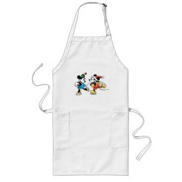 Disney Themed Vintage Disney | Mickey & Minnie Ice Skating Long Apron