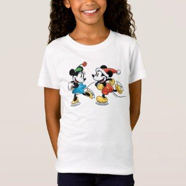 Disney Themed Vintage Disney | Mickey & Minnie Ice Skating T-Shirt
