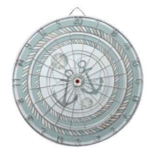 Vintage Distress Nautical ProfiledInk Dart Board
