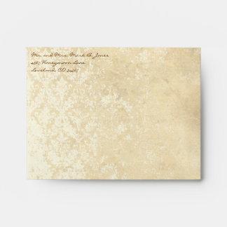 Vintage Distressed Aged Damask Envelopes