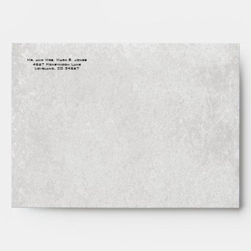 Vintage Distressed Aged LilyPad Damask Envelopes