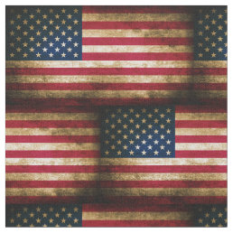 Vintage Distressed American Flag Fabric