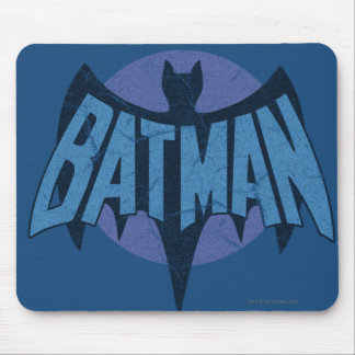 Vintage Distressed Bat Symbol Mouse Pad