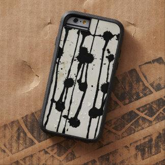 Vintage Distressed Black Ink Splatter Grunge retro Tough Xtreme iPhone 6 Case