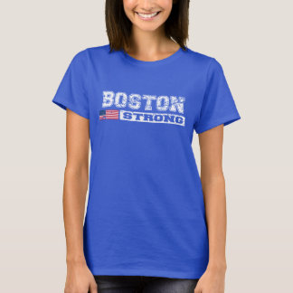 Vintage Distressed BOSTON STRONG U.S. Flag T-shirt