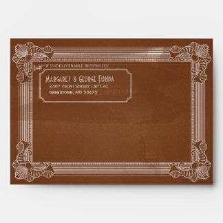 Vintage Distressed Brown Customizable A7 Envelopes