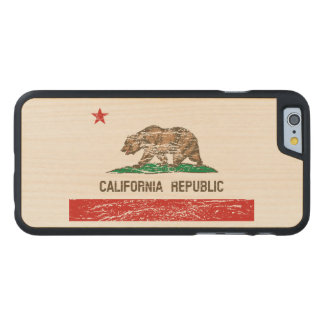 Vintage Distressed California Flag Carved® Maple iPhone 6 Case