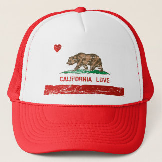 Vintage Distressed California Love State Flag Hat