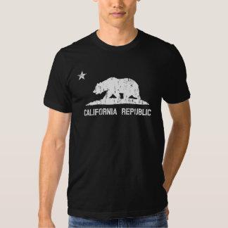 Vintage Distressed California Republic State Flag Tshirt