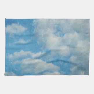 Vintage Distressed Clouds Background Towel