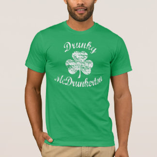 Vintage Distressed Drunky McDrunkerton T-shirt