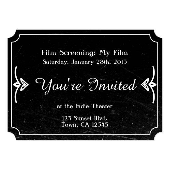 Vintage Distressed Film Invitation Zazzle Com