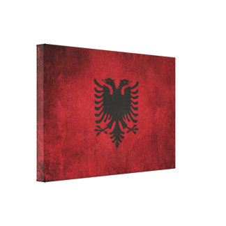 Vintage Distressed Flag of Albania Canvas Print
