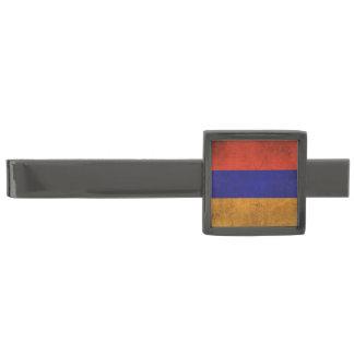 Vintage Distressed Flag of Armenia Gunmetal Finish Tie Bar