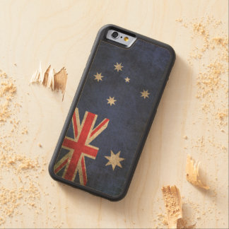 Vintage Distressed Flag of Australia Carved Maple iPhone 6 Bumper Case