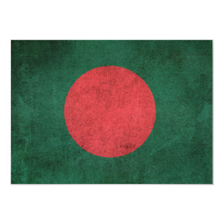 Vintage Distressed Flag of Bangladesh 5x7 Paper Invitation Card