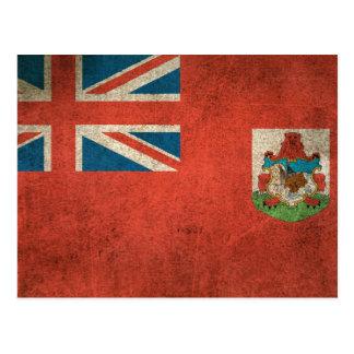 Vintage Distressed Flag of Bermuda Postcard