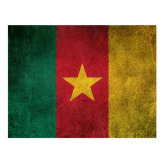 Vintage Distressed Flag of Cameroon Postcard
