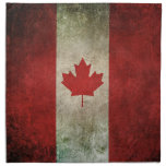 Vintage Distressed Flag of Canada Cloth Napkin
