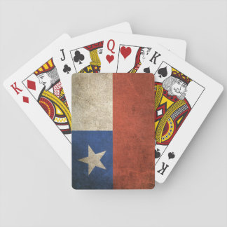 Vintage Distressed Flag of Chile Playing Cards