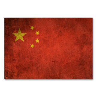 Vintage Distressed Flag of China Card