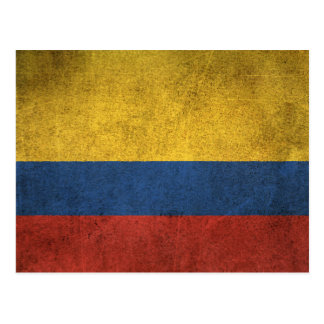 Vintage Distressed Flag of Colombia Postcard