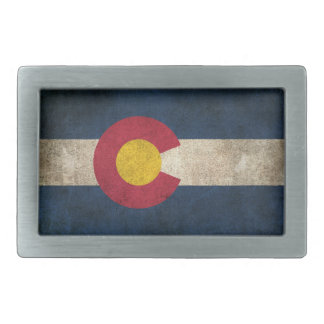 Vintage Distressed Flag of Colorado Belt Buckle