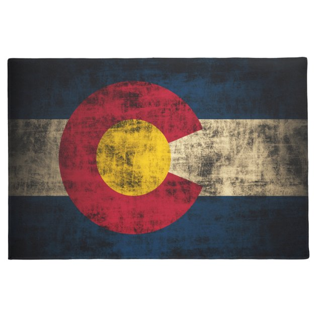 vintage distressed flag of colorado doormat