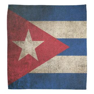 Vintage Distressed Flag of Cuba Bandana