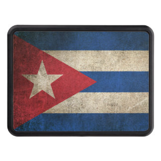 Vintage Distressed Flag of Cuba Hitch Cover