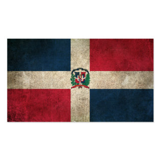 Vintage Distressed Flag of Dominican Republic Business Card