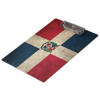 Vintage Distressed Flag of Dominican Republic Clipboard