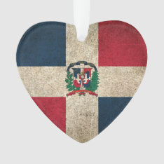 Vintage Distressed Flag Of Dominican Republic Ornament at Zazzle