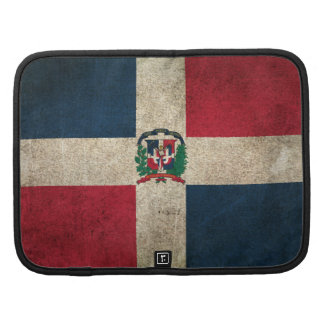Vintage Distressed Flag of Dominican Republic Planner